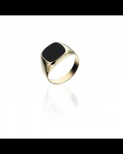 Scrouples 8 Karat Guld Ring med Onyx 790533