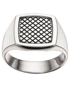 Scrouples Oxideret Sølv Herrering 790952