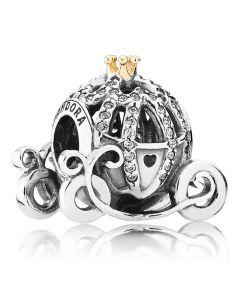 Pandora Disney Cinderellas Pumpkin Coach Vedhæng i 14 Karat Guld