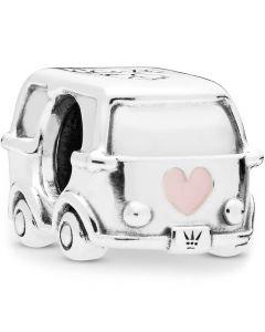 Pandora Skolebus Sterling Sølv Charm med Emalje