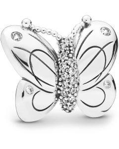 Pandora Mega Sommerfugl Clip Charm i Sterling Sølv