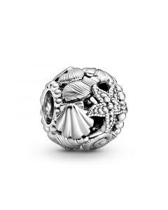 Pandora Shell & Starfish Charm i Sterling Sølv 798950C00