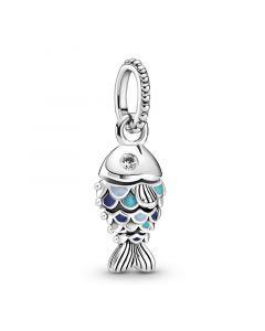 Pandora Fish Hængeled Sterling Sølv Vedhæng med Emalje