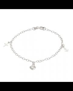 Tro Håb Og Kærlighed Sterling Sølv Armbånd fra Nordahl Andersen