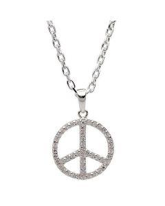Peace Sterling Sølv Halskæde fra Nordahl Andersen