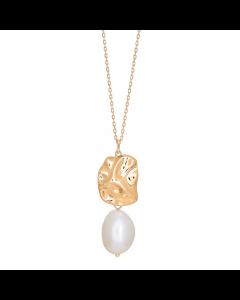 Nordahl Andersen Baroque52 Forgyldt Sølv Halskæde med Perle