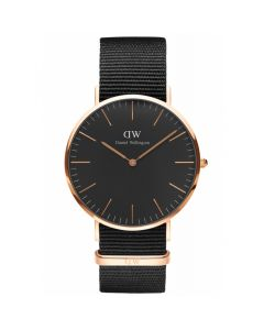 Daniel Wellington 40 MM Classic Black Cornwall ADW00100148 Unisexur