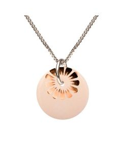 Scherning Bloom Nude Bronze Halskæde i Sterling Sølv med Porcelæn
