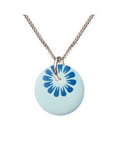 Scherning Bloom Cloud Blue Halskæde i Sterling Sølv med Porcelæn