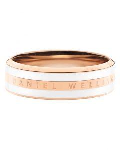 Daniel Wellington Satin White Rosa Guld Double Ring