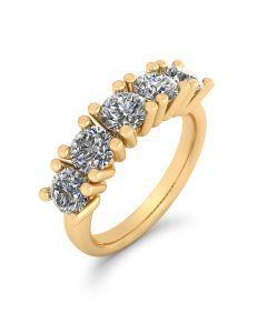 14 Karat Guld Ring fra Henrik Ørsnes Design med Diamanter 1,50 Carat W/VVS