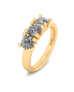 Henrik Ørsnes Design 14 Karat Guld Ring med Brillanter 1,05 Carat W/VVS