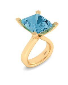 Henrik Ørsnes Design 14 Karat Guld Ring med Topas