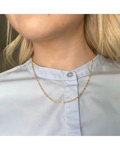 Smykkekæden Singapore Forgyldt Sølv Halskæde