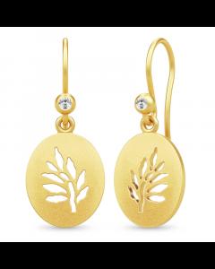 Tree Of Life Signet Earrings Forgyldt Sølv Øreringe fra Julie Sandlau