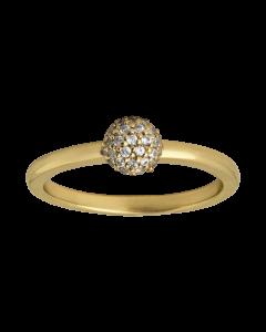 byBiehl Sparkle Forgyldt Sølv Ring 5-504A-GP