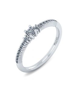 14 Karat Hvidguld Ring fra Smykkekæden med Diamanter 0,272 Carat W/SI
