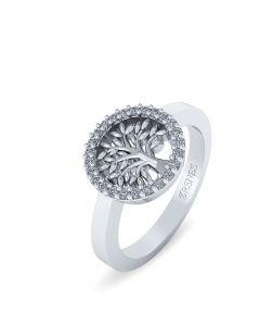 Smykkekæden Livets Træ Sterling Sølv Ring ORSN016S