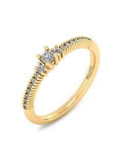 Smykkekæden Ring i 14 Karat Guld med Brillanter 0,272 Carat W/SI