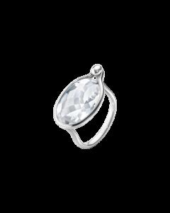 Savannah Stor Sterling Sølv Ring fra Georg Jensen med Bjergkrystal