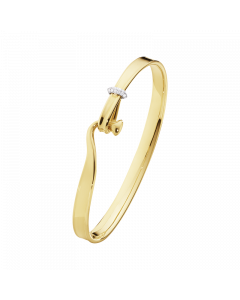 Georg Jensen Torun Armring i 18 Karat Guld med Diamanter 0,08 Carat TW/VS