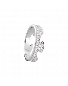 Fusion Ende 18 Karat Hvidguld Ring fra Georg Jensen med Brillanter 0,66 - 0,99 Carat TW/VS
