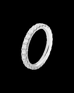 Georg Jensen Aurora 18 Karat Hvidguld Ring med Diamanter 0,91 - 0,98 Carat TW/VS