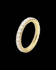 Georg Jensen Aurora 18 Karat Guld Ring med Diamanter 0,91 - 0,98 Carat TW/VS