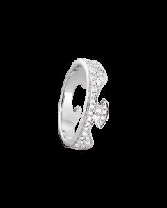 Georg Jensen Fusion Ende Ring i 18 Karat Hvidguld med Diamanter 0,66 - 0,99 Carat TW/VS