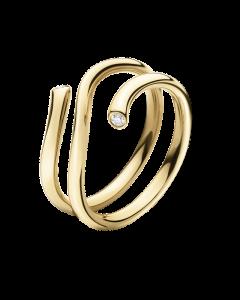 Magic 18 Karat Guld Ring fra Georg Jensen med Diamanter 0,04 Carat TW/VS