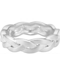 Enamel Braided Sterling Sølv Ring R34SM-H