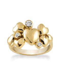 Rabinovich Heart Alliance Ring i Forgyldt Sølv 63020370H
