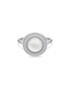 Julie Sandlau Moon Goddess Sterling Sølv Ring med Hvid Månesten
