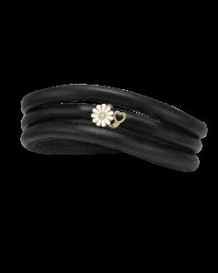 Kræftens Bekæmpelse Læder Charm fra Christina Watches med Forgyldt Sølvcharm Og Laboratorieskabt Diamant