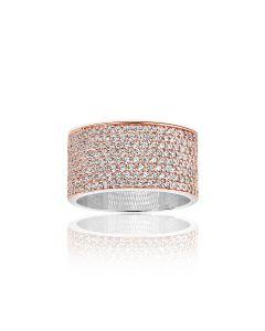 Sif Jakobs Felline Grande Rosaforgyldt Sølv Ring