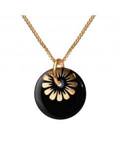 Scherning Bloom Forgyldt Sølv Halskæde med Black Gold Porcelæn