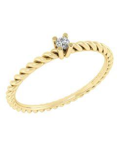 14 Karat Guld Ring fra Smykkekæden med Brillant DMN0345YG