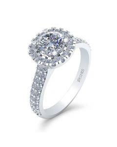 14 Karat Hvidguld Ring fra Smykkekæden med Brillanter 1,28 Carat W/SI