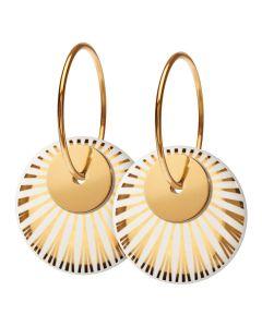 Splash Duo Gold Forgyldt Sølv Ørestikker fra Scherning