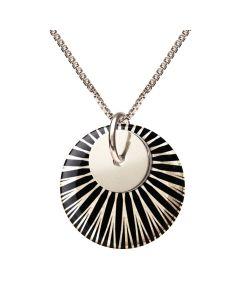 Splash Black Silver Duo Sterling Sølv Halskæde fra Scherning