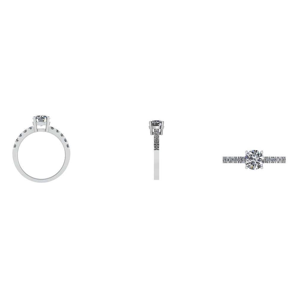 14 Karat Hvidguld Ring fra Henrik Ørsnes Design med Brillanter 1,30 Carat W/SI