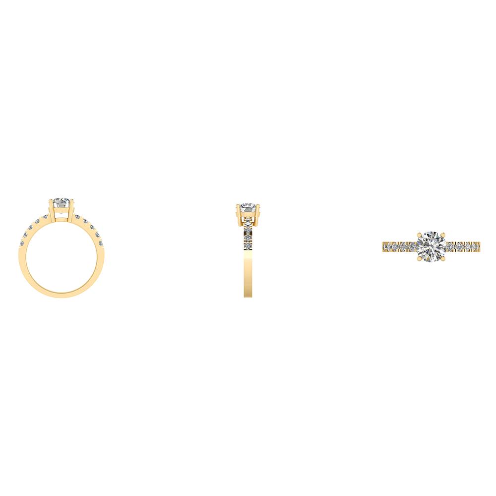 14 Karat Guld Ring fra Henrik Ørsnes Design med Brillanter 1,30 Carat W/SI