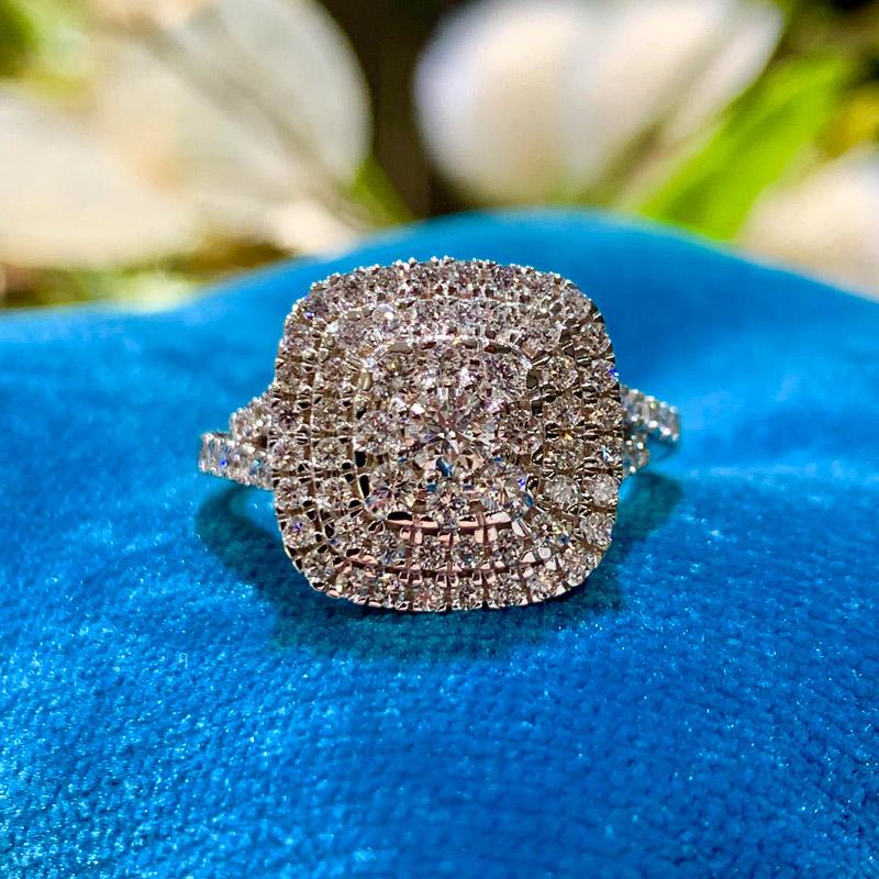 Henrik Ørsnes Design 14 Karat Hvidguld Ring med Brillanter 1,022 Carat TW/SI